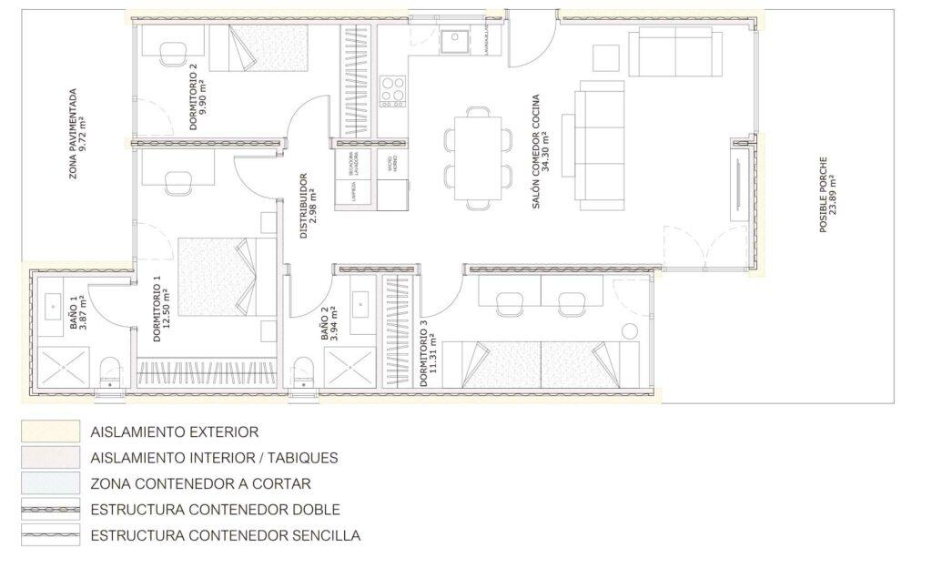 planos ejemplos casas contenedor