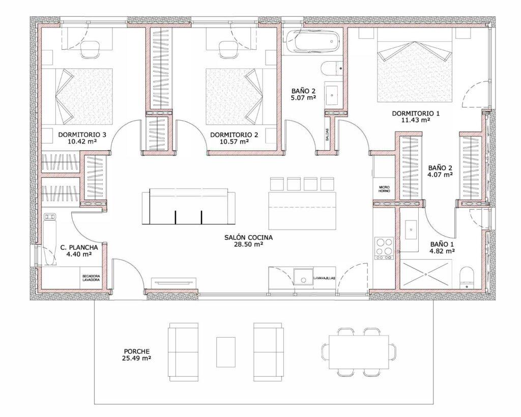 planos modelo effic box casas container