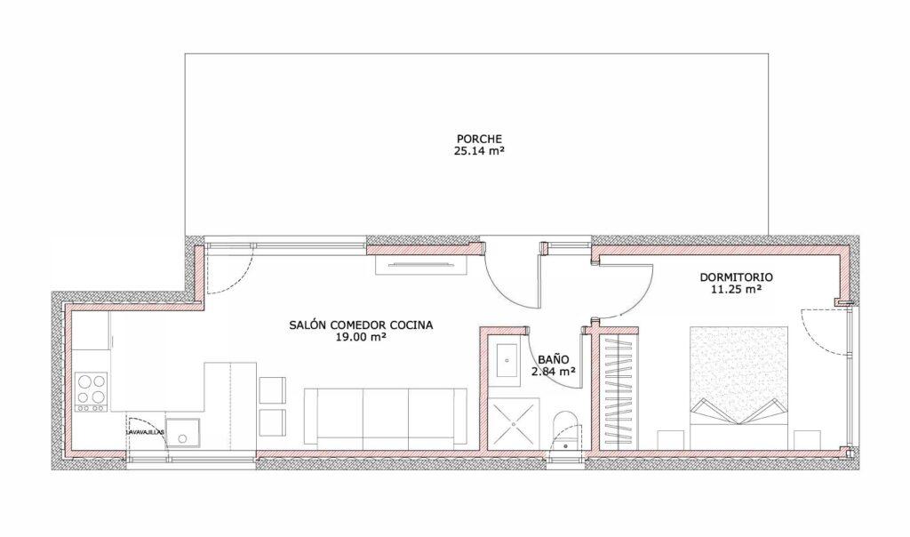 planos ejemplos casas contenedores marítimos